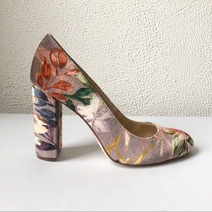 Nine West | Leroux Velvet Floral Pumps Size 8